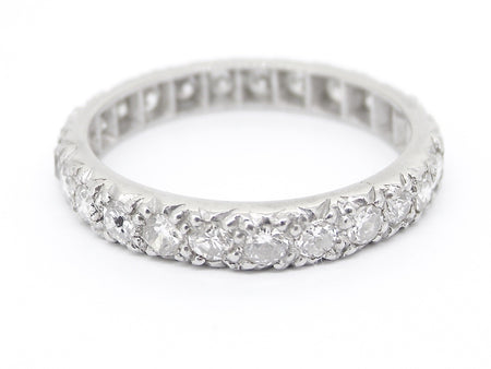 A platinum full eternity diamond ring