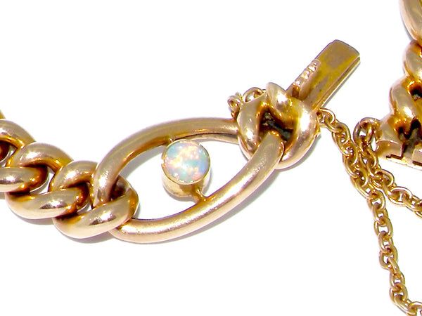 An antique 15 carat gold opal bracelet