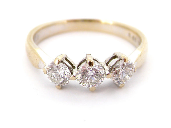 A three stone diamond ring 0.60 carats