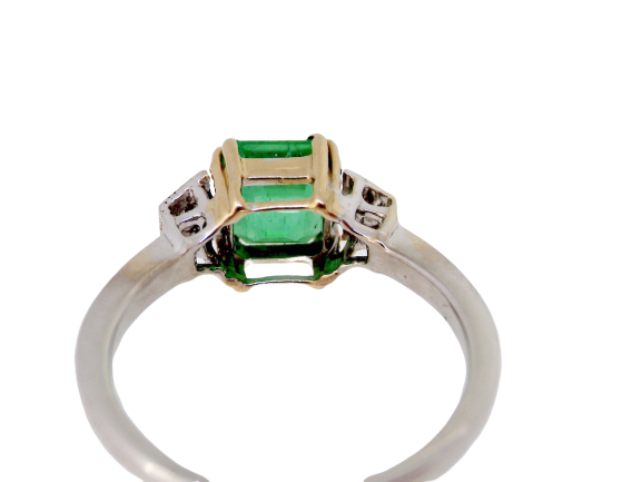 A fine emerald and diamond three stone ring-NOW REDUCED! *RESERVED*