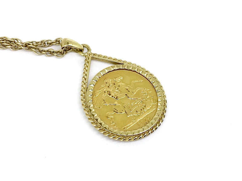 A 1976 full sovereign pendant