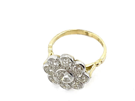 A fabulous 2.2 carat diamond cluster ring SOLD