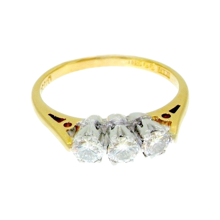 A traditional three stone diamond ring *RESERVED*