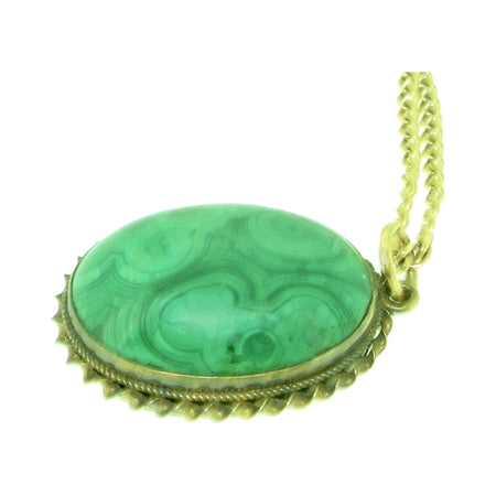 A vintage malachite pendant-NOW REDUCED