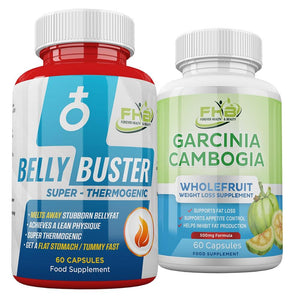 Belly Buster For Men & Garcinia Cambogia Combo - 120 Capsules