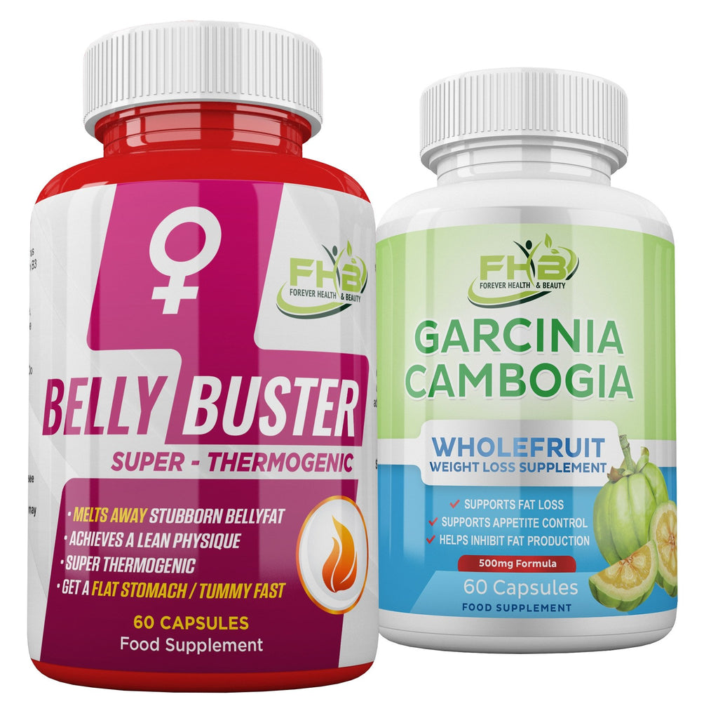 Belly Buster For Women & Garcinia Cambogia Combo - 120 Capsules