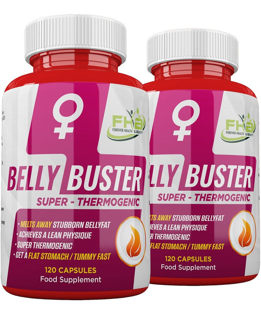 Belly Buster For Women - Super Thermogenic - Melts Away Stubborn Bellyfat - 240 Capsules