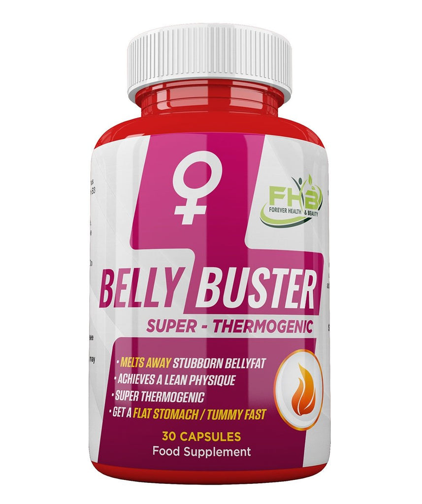 Belly Buster For Women - Super Thermogenic - Melts Away Stubborn Bellyfat - 30 Capsules