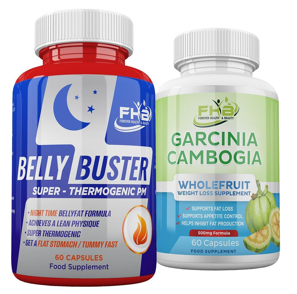 Belly Buster Night & Garcinia Cambogia Combo - 120 Capsules