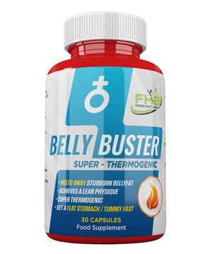 Belly Buster - Super Thermogenic - Melts Away Stubborn Bellyfat - 30 Capsules