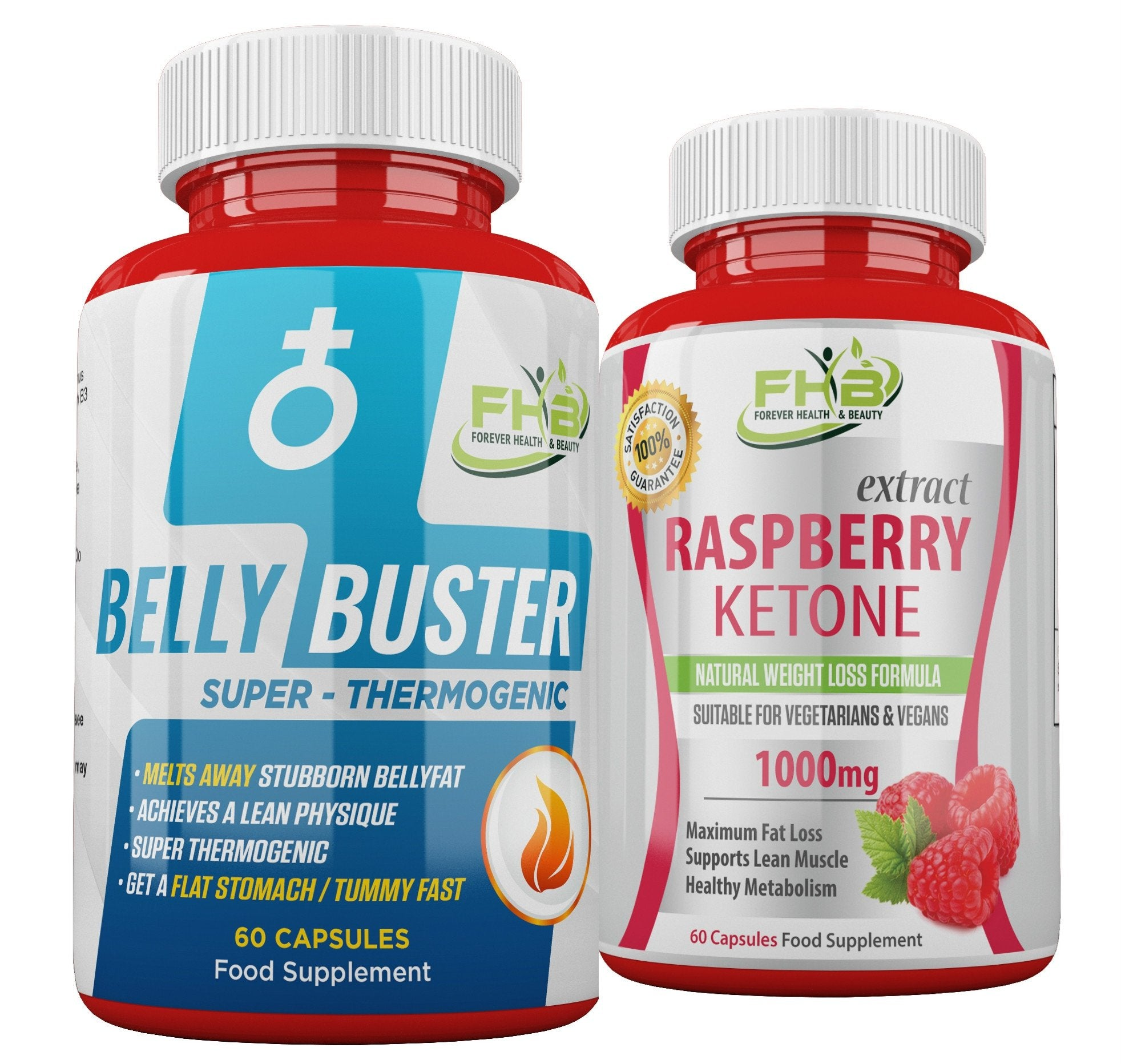 Belly Buster For Men & Raspberry Ketone Combo