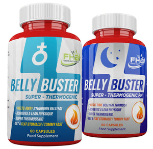Belly Buster Night & Belly Buster For Men Combo - 120 Capsules