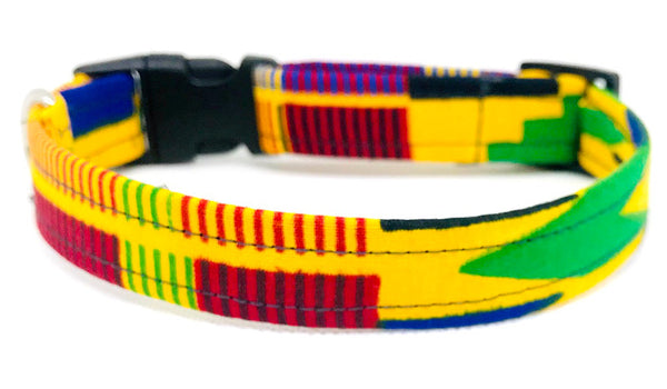 Dog Collar:  Kente
