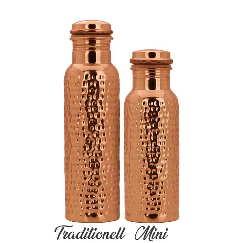 Copper bottle Hammered 600ml