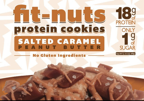 FIT-NUTS Protein Bites - Salted Caramel Peanut Butter ~ 12 Pack (FREE SHIPPING)