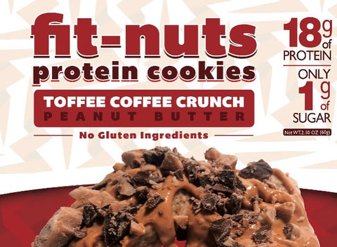 FIT-NUTS Protein Bites - Coffee Toffee Crunch 12 Pack (FREE SHIPPING)