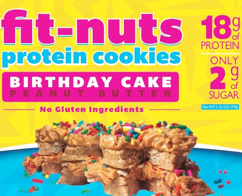 FIT-NUTS Protein Bites - Birthday Cake - 6 Pack (FREE SHIPPING)