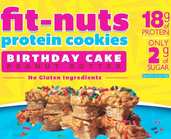 FIT-NUTS Protein Bites - Birthday Cake - 12 Pack (FREE SHIPPING)