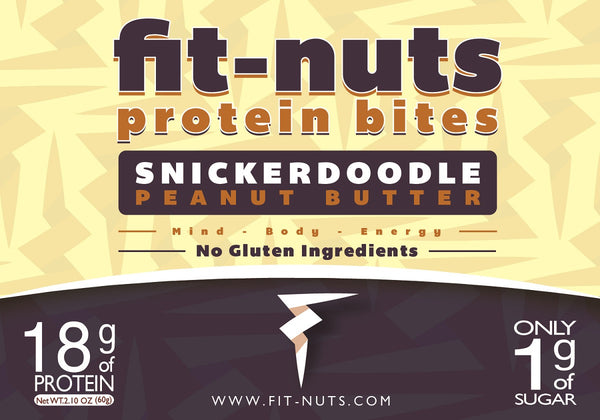FIT-NUTS Protein Bites - Snickerdoodle - 6 Pack (FREE SHIPPING)