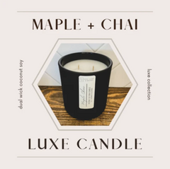 maple chai handmade scented candle