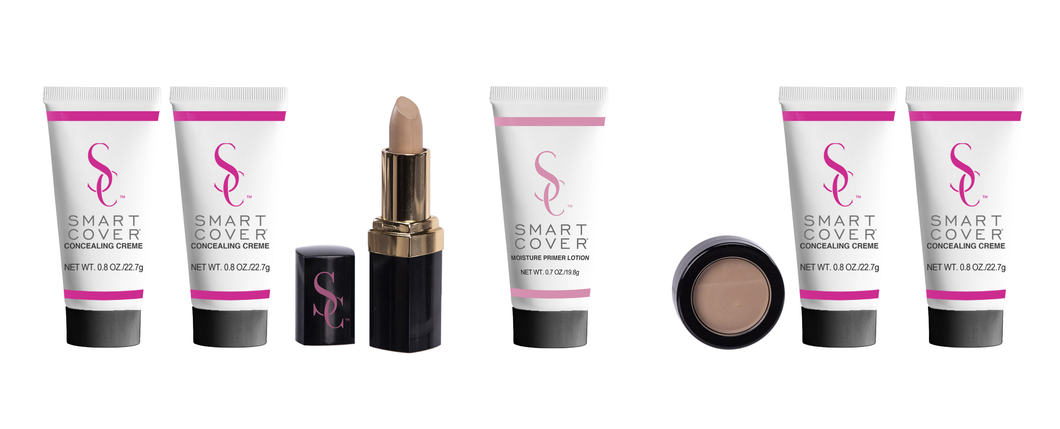 Smart Cover Value Pack - Light/Medium - (2) Light Beige Concealing Crème, (2) Medium Beige Concealing Crème, (1) Primer Lotion, (1) Neutral Light Camouflage Concealer, (1) Smart Cover Stick