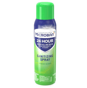 15oz Microban - Fresh Scent - Sanitizing Aerosol Spray - kills 99.9% of germs, including cold and flu viruses - Microban - Fresh Scent - Brooklyn Equipment