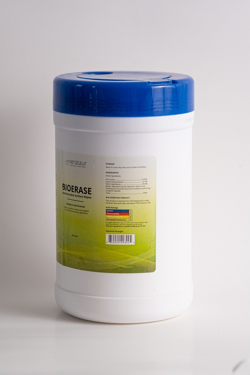 Wipes - 160 Antimicrobial Surface Wipes - 1 Canister Of 160 Wipes - Citric Acid - EPA Exempt Product - Industrial Strengh