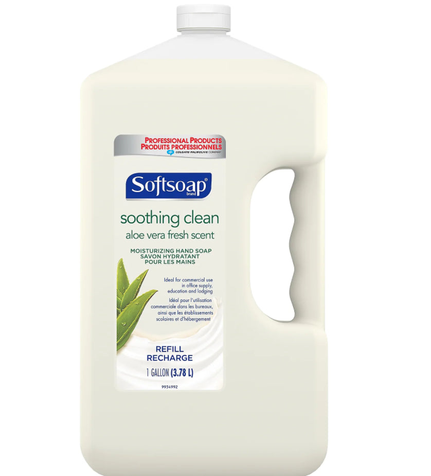 Soaps & Dispensers - 1 Gal Softsoap® Liquid Hand Soap Refill With Aloe - Unscented - Refill Bottle