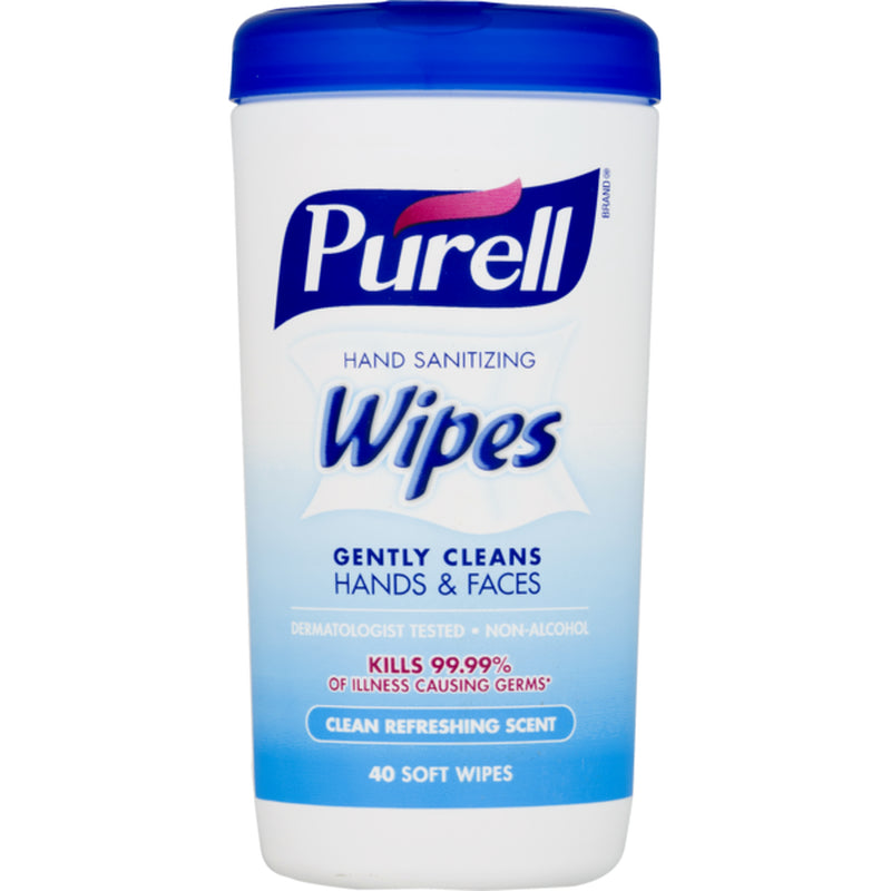 1 Purell® Disinfecting Wipes - 1 canister of 40 wipes - kills 99.99% of germs - Clean Refreshing Scent - Brooklyn Equipment