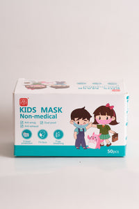 3-ply - KID MASK -  Disposable - pack of 50 - free shipping-GREEN - Brooklyn Equipment