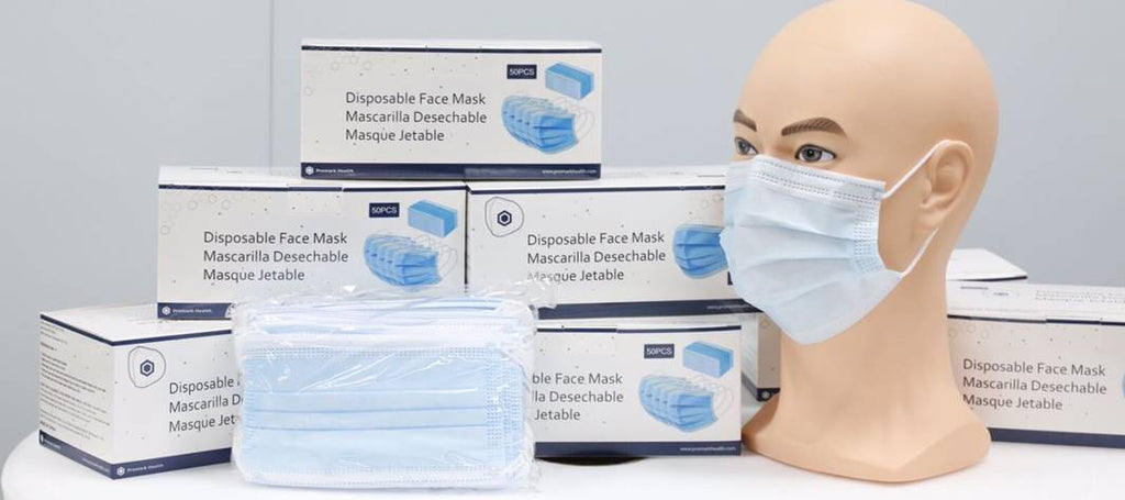 3-ply Disposable -  1 palette of 50,000 -  $0.10/mask - FDA registered - Brooklyn Equipment