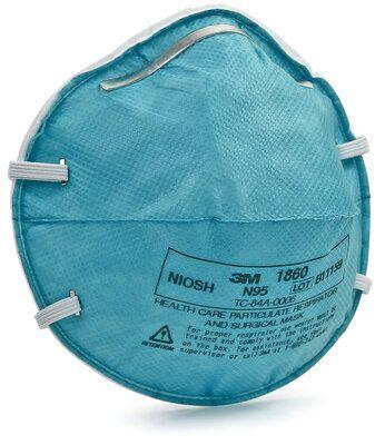 3M N95 model 1860 NIOSH - 20 masks - $4.9 each - FREE SHIPPING - Brooklyn Equipment