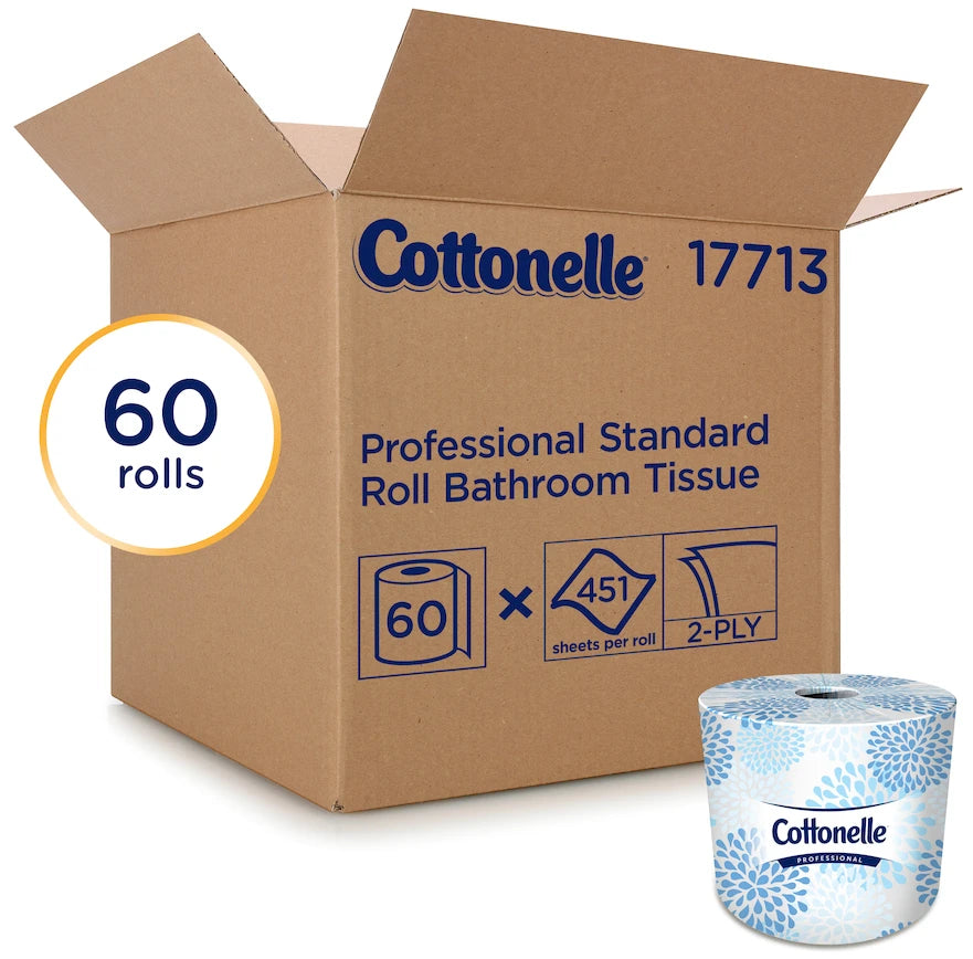 Towels, Tissues & Dispensers - 60 Pack Cottonelle® Two-Ply Bathroom Tissue - 451 Sheets/Roll