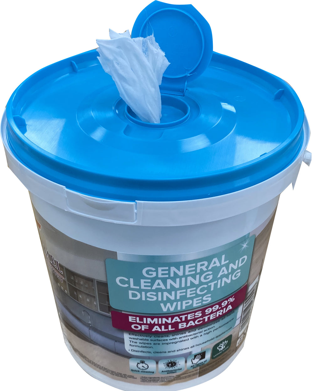 84,000 Disinfecting Wipes - 1 Palette of 210 Buckets of 400 Vega/Carmel Wipes - $11.50/bucket - Made in Israel - Brooklyn Equipment