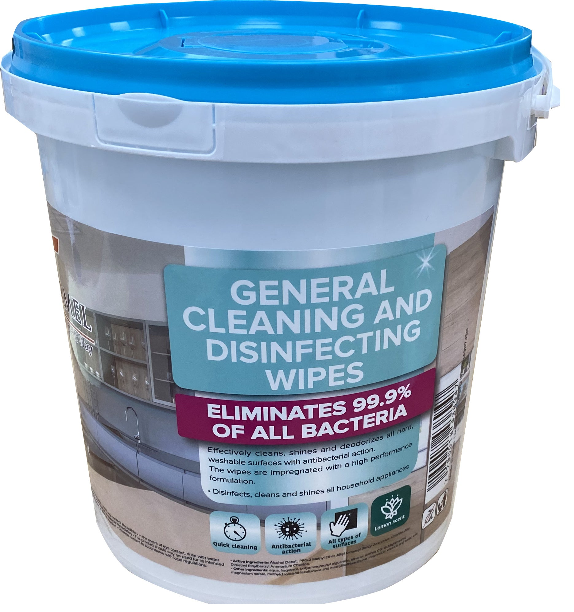 400 Disinfecting wipes - same chemicals as Clorox wipes - 1 bucket of 400 wipes - Brooklyn Equipment