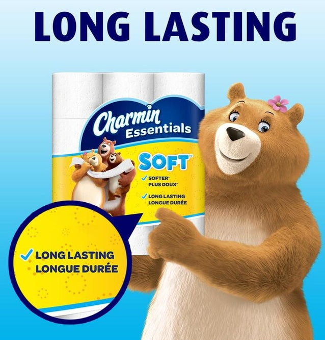 Toilet Paper - 4 Packs Of 12 Rolls - Charmin® - Essentials Soft Toilet Paper - 2-Ply Giant Rolls