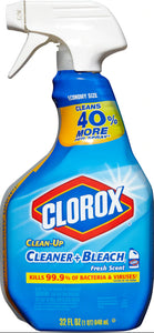 Clorox Clean-up® Blue - Fresh Scent - Disinfectant with Bleach 32OZ Spray - Brooklyn Equipment