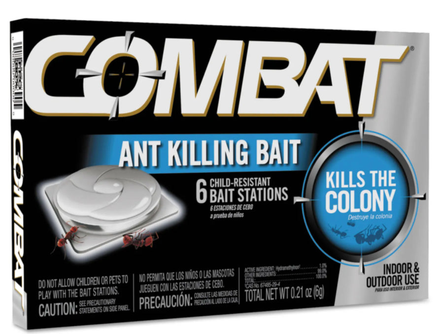 Facility Maintenance - Combat® Ant Killing System - Child-Resistant Kills Queen & Colony - Box Of 6 Baits