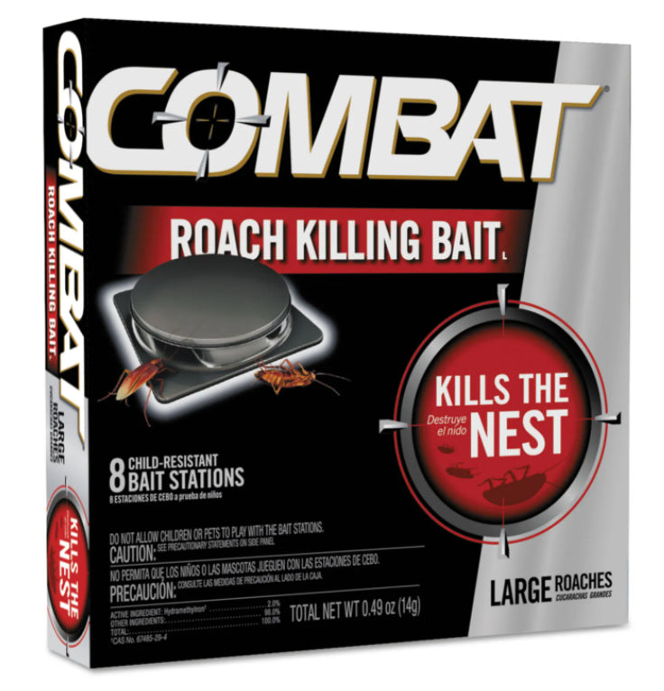 Facility Maintenance - Combat® Source Kill Large Roach Killing System Child-Resistant Disc - Box Of 8 Baits