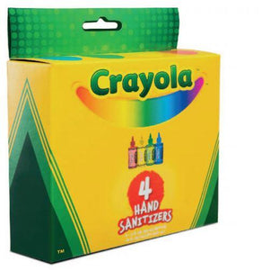 Hand Sanitizer - Crayola® - 2oz Gel Hand Sanitizer - KIDS - 75% Alcohol - Pack Of 4 - Made In USA
