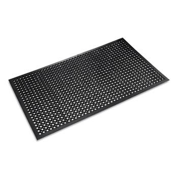 Matting - Crown Safewalk - Light Drainage Safety Mat - Rubber - 36 X 60 - Black