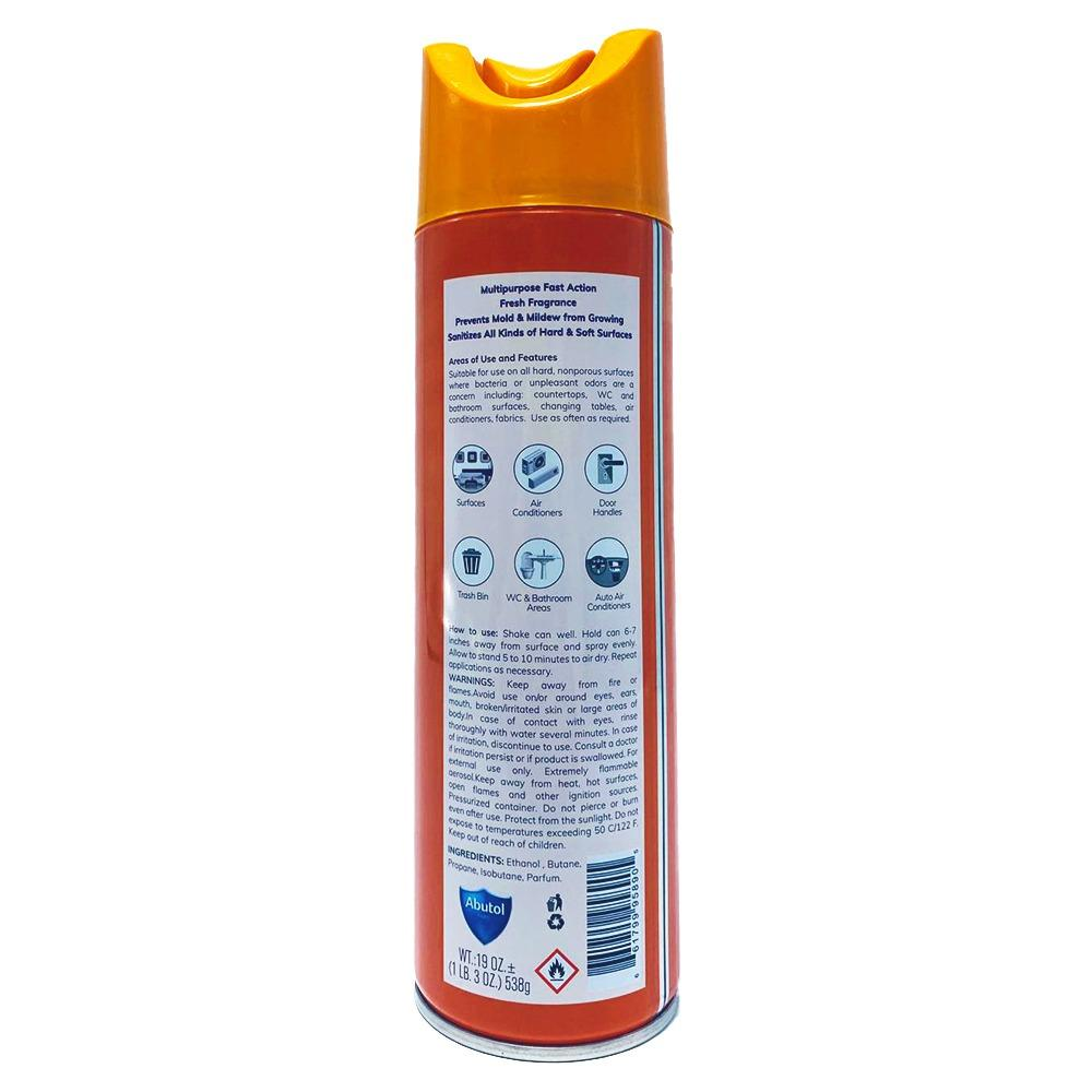 Disinfectant spray Abutol® - Citrus Garden® - 1 can- 19oz - Made in France - kills 99.9% of viruses - Brooklyn Equipment