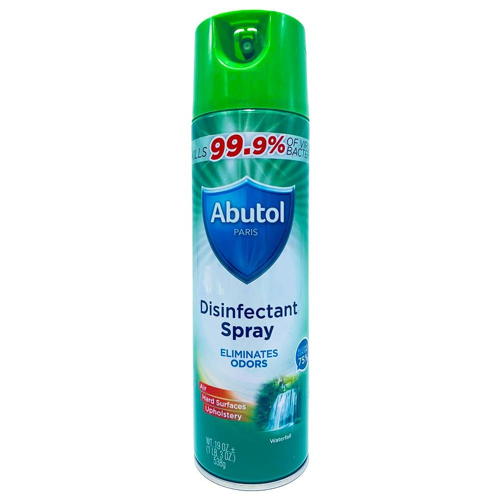 Disinfectant spray Abutol® - Waterfall® - 1 can- 19oz - Made in France - kills 99.9% of viruses - Brooklyn Equipment