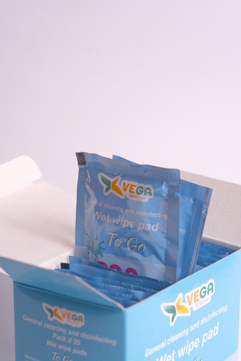 Wipes - Disinfecting Wipes - Same Chemicals As Clorox Wipes - 1 Box Of 20 Single Wrapped Wipes - Made In Israel