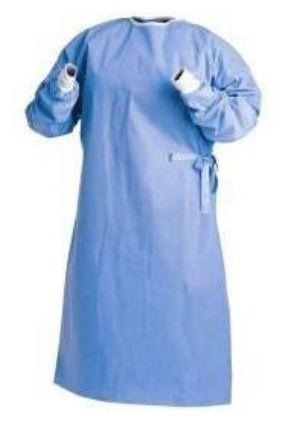 Gown - Disposable Isolation Gowns - AAMI Level 3 -SMS Material - Pack Of 10 - BLUE - Free Shipping