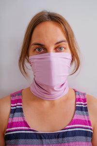 Face Mask - Face Scarf - Active Carbon -  Free Shipping - Pink