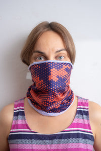 Purple Orange Face Scarf - Active Carbon -  Free Shipping - Brooklyn Equipment