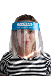 Direct Splash Protection Face shield - 1 Palette of 3000 - 30 Cases of 100 shields - $1.25/shield - Brooklyn Equipment