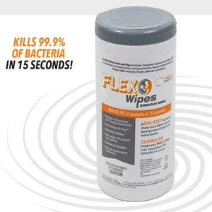 Disinfecting wipes - Made in USA -  EPA registered - 1 canister of 35 wipes - Flex - Brooklyn Equipment