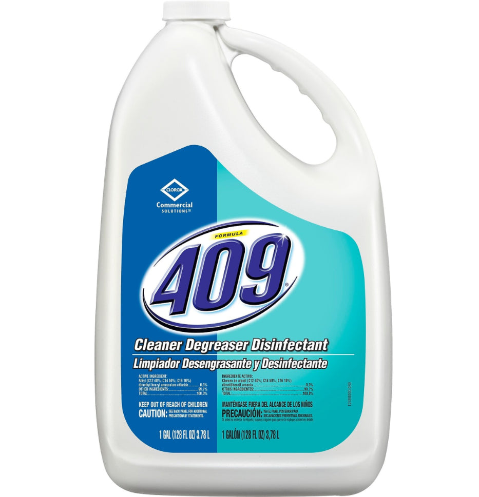 Cleaners & Detergents - Formula 409® Cleaner Degreaser Disinfectant - EPA APPROVED - 128 Fl. Oz Refill Bottle
